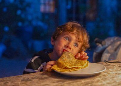 de lekkerste pannenkoeken maakt...
