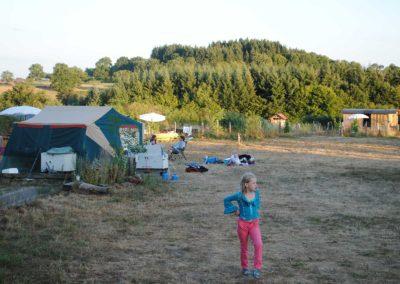 kamperen op Brénazet, Allier, hartje Frankrijk
