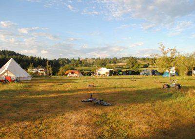 Camping Brénazet in de ochtendzon
