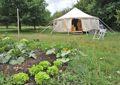 Camping Brénazet, grote ronde tent, de yurt