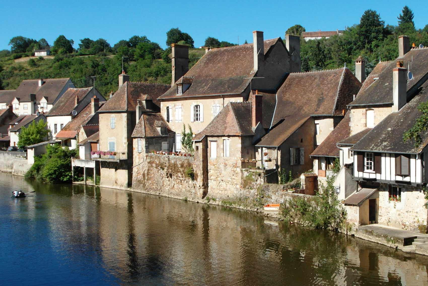 Omgeving, dorpje Herisson