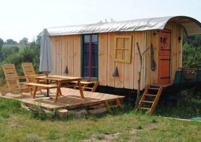 Vakantiehuis pipowagen met terras